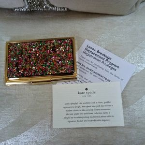 NEW! Kate SPADE Lenox SIMPLY Sparkling CARD CASE